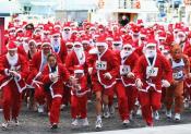 kerstman hardlopen