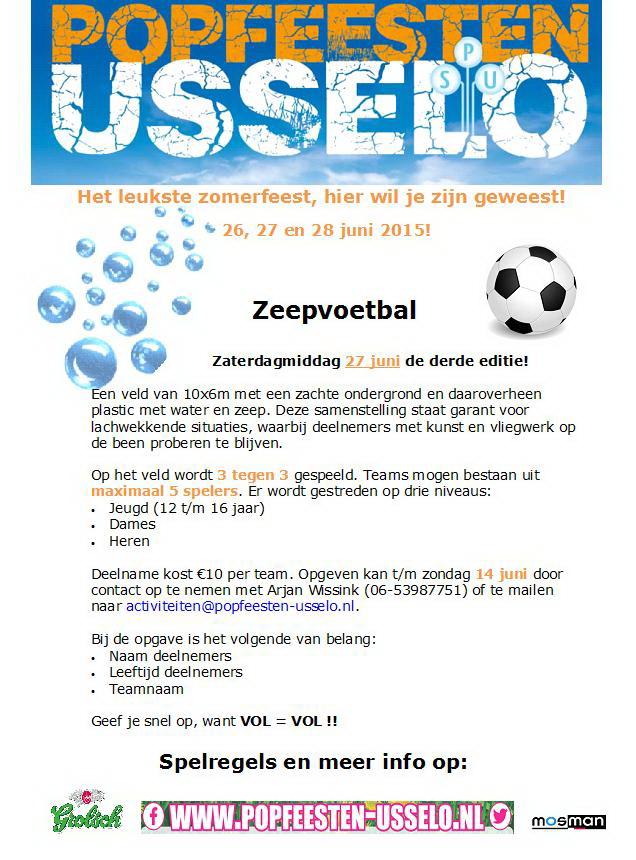 Poster zeepvoetbal 2015